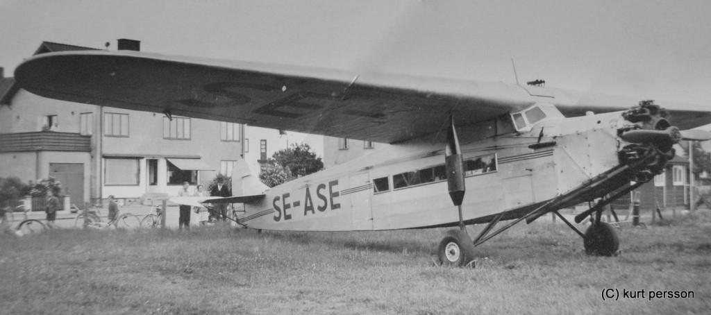 focker F. VIIa byggt 1928 såld till sverige 1946