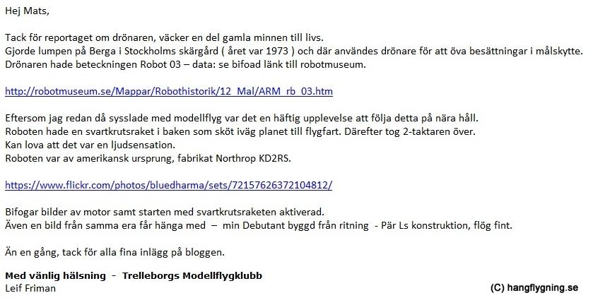 mail från Leif trelleborg
