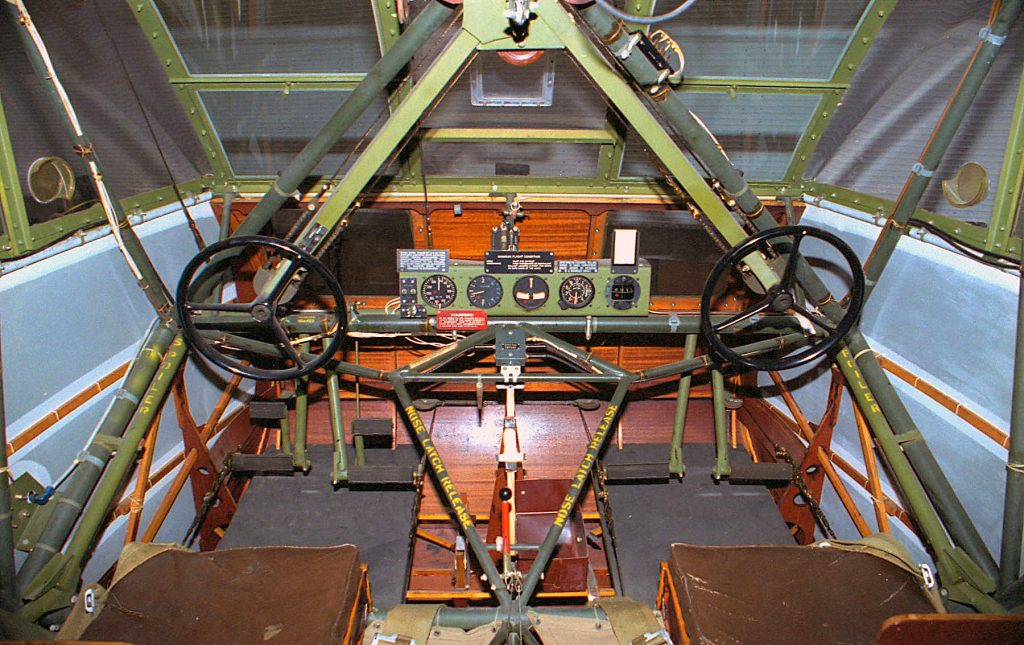 DAYTON, Ohio -- Waco CG-4A cockpit at the National Museum of the United States Air Force. (U.S. Air Force photo)