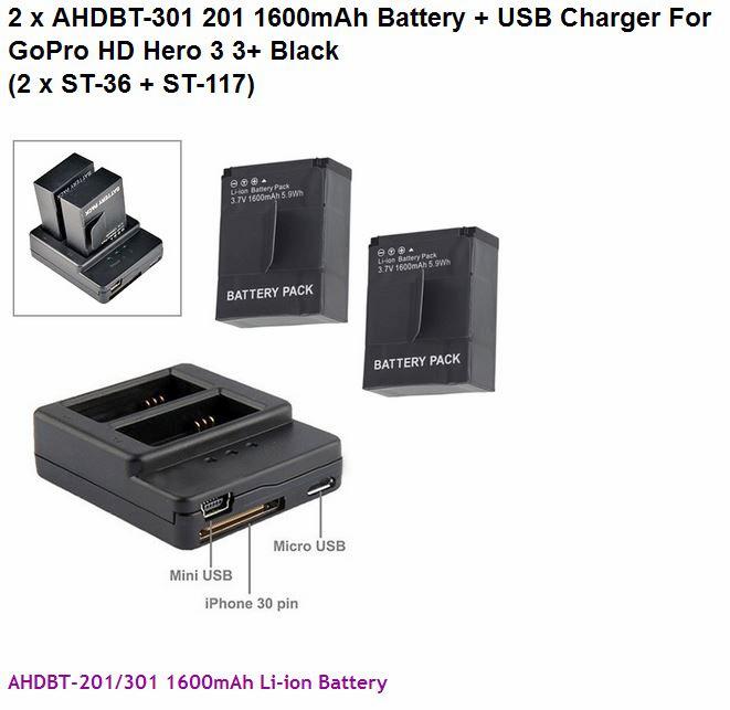 1-batteri för gopro